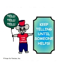 50 Keep Telling Until Someone Helps! Stickers