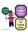 50 Stand Tall, Speak Strong, Look in Their Eyes! Stickers