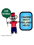 50 Talking About Feelings Helps! Stickers