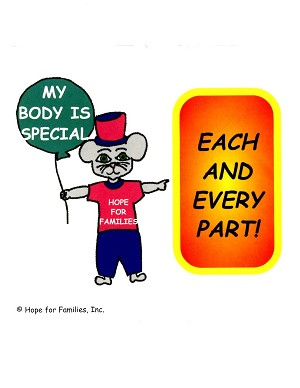 250 My Body is Special, Each and Every Part! Stickers