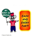 50 My Body is Special, Each and Every Part! Stickers
